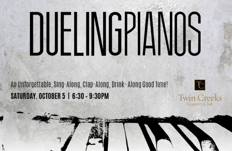 Dueling Pianos Event Poster